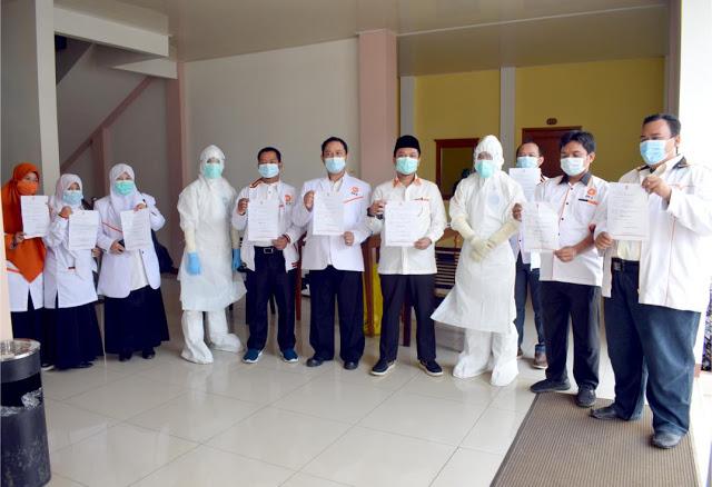PKS Lakukan Tes SWAB di Acara Pelantikan Pengurus Pandeglang