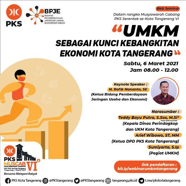 Muscab Serentak PKS Kota Tangerang Adakan Webinar UMKM